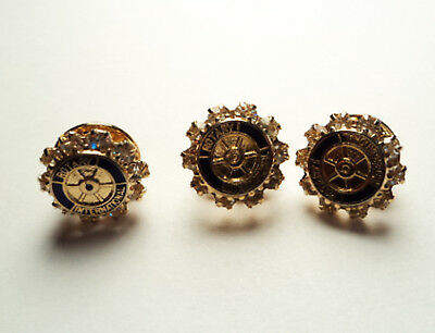 3 PCS. ROTARY INTERNATIONAL LAPEL TACK PINS - ri
