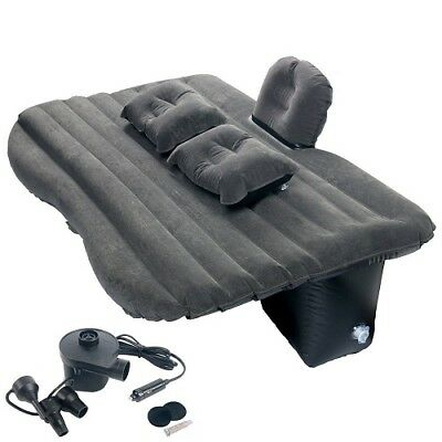 Car Inflatable Back Seat Sleep Rest Mattress Air Bed+Pillows for Travel Camping