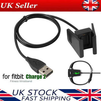 USB Cable Charger Lead Charging for Fitbit CHARGE 2 Fitness Tracker Wristband