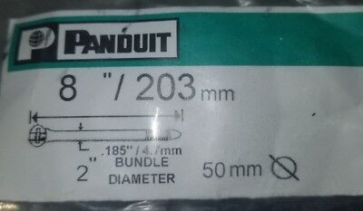 "1000 PC Bag Panduit Barb Ty 8"" / 203mm Nylon Cable Zip Ties BT2S-M0"