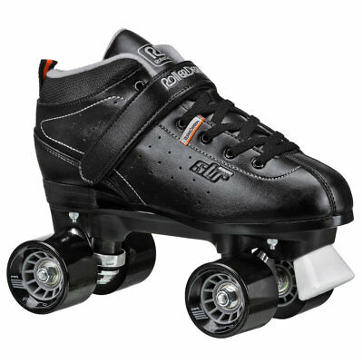 RDS STR7 Mens Boys Ladies Black Quad Roller Derby Speed Skates US Mens Size 5-12