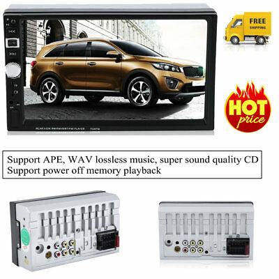 2 DIN 7inch Car Stereo Mp5 Player Bluetooth DVD CD Audio Radio Player FM USB NEW