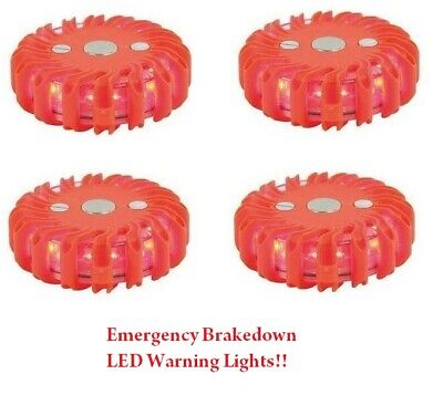 X2 9 LED Hazard Emergency Magnetic Recovery Breakdown Warning Light Caravans