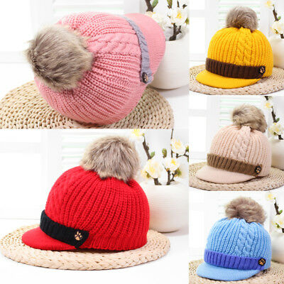 Toddler Kids Girl&Boy Baby Infant Winter Warm Crochet Knit Hat Beanie Cap New