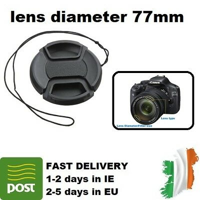 77mm Camera Front Lens Snap-on Pinch Cap Cover Sigma Nikon Olympus Canon Fuji