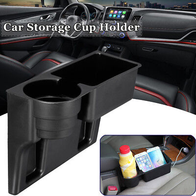 Universal Car Cup Drink Beverage Holder Mount Seat Seam Wedge Storage Organizer