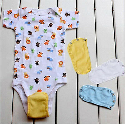 NEUER Baby Lengthen Film Windel Outfits Bodysuit-Overall-Extend Weiche  UU
