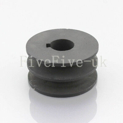 A Type Pulley Double V Groove Bore 19/22/24/28mm OD 100mm for A Belt Motor