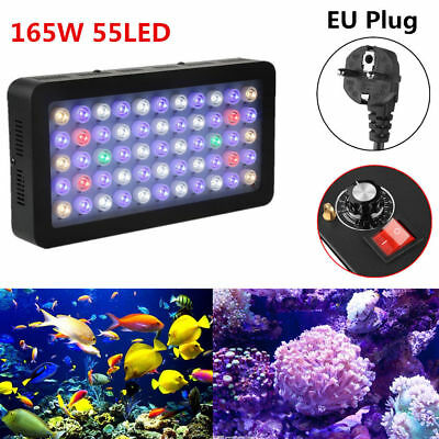 165W Dimmable LED Aquarium Light Full Spectrum Fish Tank Reef Coral SPS LPS Lamp