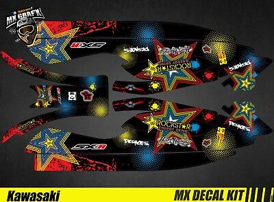 Kit Déco pour / Decal Kit for Jet Ski Kawasaki 800 Sxr - RockStar H&H