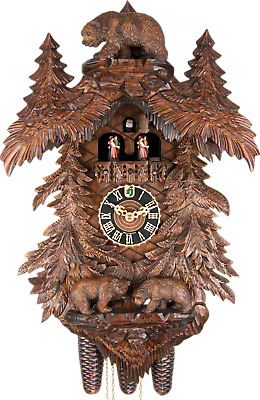 German Cuckoo Clock 8-day-movement Carved-Style 58cm by Hönes