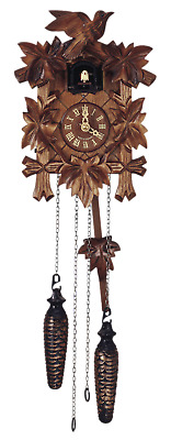 German Cuckoo Clock Quartz-movement Carved-Style 23cm by Anton Schneider