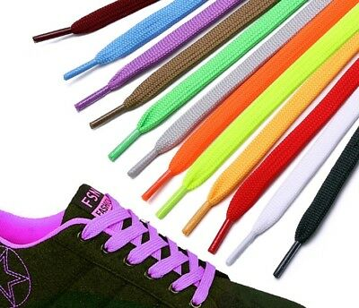 Shoelaces Colorful Coloured (Flat) Bootlace Sneakers Shoes Boots Laces Strings