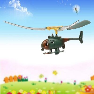 Pull String Handle Educational Helicopter Funny Outdoors Toys Gift For Child