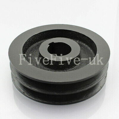 A Type Pulley Double V Groove Bore 22/24/28mm OD 120mm for A Belt Motor