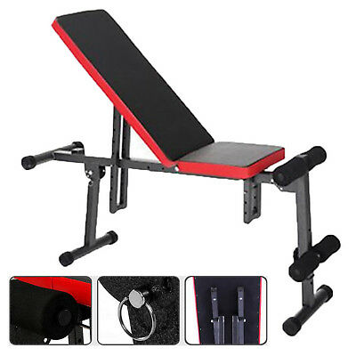 Fitness Dumbbell Weight Bench Flat Incline Decline Home Gym Sport Workout Indoor