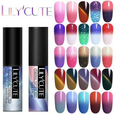 5ML Thermo Multiple UV Gel Nail Art Semi Permanent Vernis à ongles DIY LILYCUTE