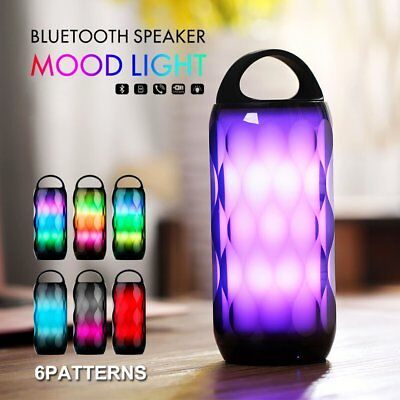 Xoomz S605 Portable Rechargeable Mini Bass Bluetooth Speaker With Mood Light
