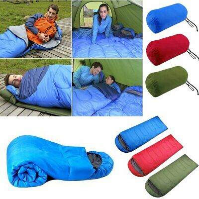 3 Season Sleeping Bag Single Person Camping Hiking Case Envelope Zip Waterproof