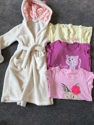 Girls Small Bundle Age 3 From Next Gap And Benetton Soft Dressing Gown And Tops