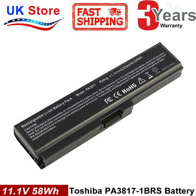 Battery for Toshiba Satellite PA3817U-1BRS C650 C655 C660 C670 L750 L770 M800 UK