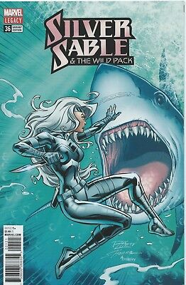 Silver Sable And The Wild Pack #36 (Rare 1:25 Lim Variant) Nm Unread Copy