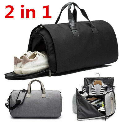 2 in 1 Travel Garment Bag+Duffle Business Suit&Jacket Gym Sport Luggage Bags
