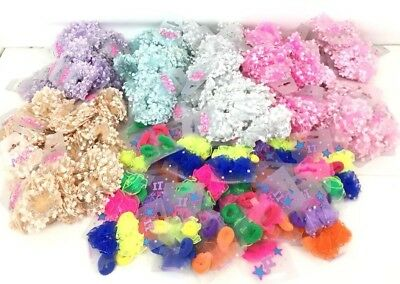 100 x Assorted Girls Mixed Bobbles Party Bags Job Lot Wholesale