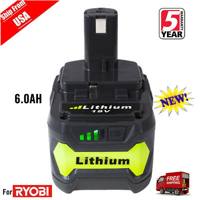 New 6.0Ah P108 P164 P193 for Ryobi ONE+ 18V Lithium-Ion Compact Battery P104 US