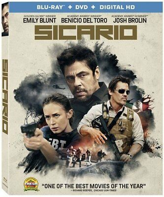 Sicario No enhanced packaging Emily Blunt [2016] [Drama] [BLU-RAY]