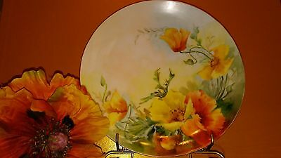 Antique Plate With Poppies Thomas Bavaria