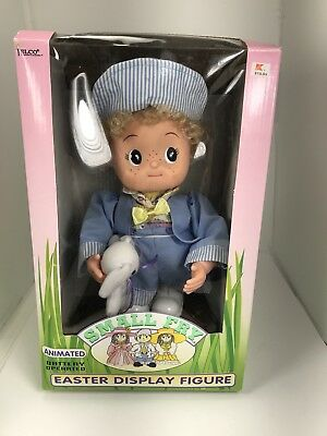 Vintage Telco Small Fry Easter Display Figure in Box  Boy With Bunny 1994 90s