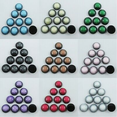 10pcs DIY Stone Look Cabochon 12mm Round Flat Back Earrings etc Select Colour