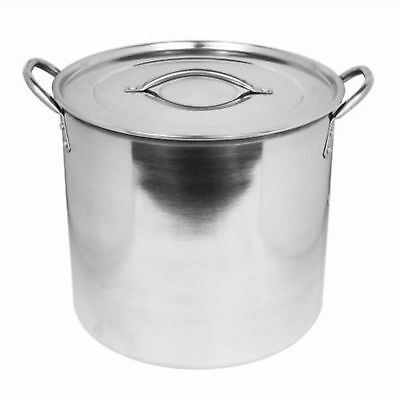 15 Litre Large Stainless Steel Casserole Dish Stockpot Cooker Dish Pot & Lid New