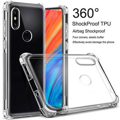 For Xiaomi Redmi Note 7 Pro 6 6A Case Shockproof Slim Clear Soft TPU Back Cover