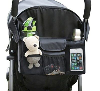 NEW Stroller Organizer Baby Accessory - Two Deep Cup Holders - Extra Large Space