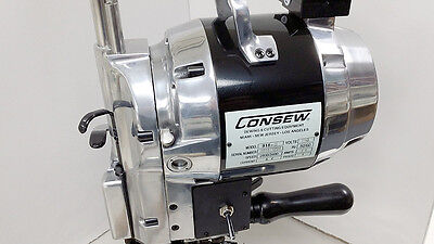 """Consew 918-6 Straight Knife Cloth and Fabric Cutting Machine 6"""" Blade 110 Volt"""