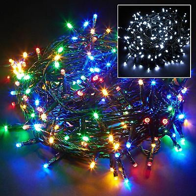 100 led string chaser christmas lights flash festive tree window decoration xmas