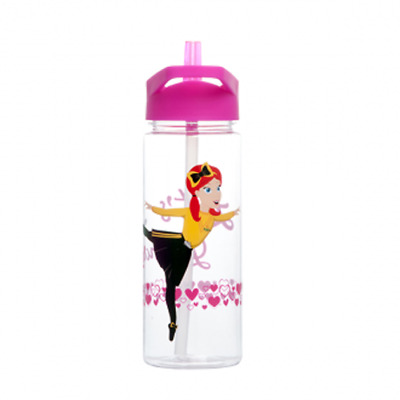 Wiggles Emma Drink Bottle Pink Lid Toddlers Kids Water Bottle