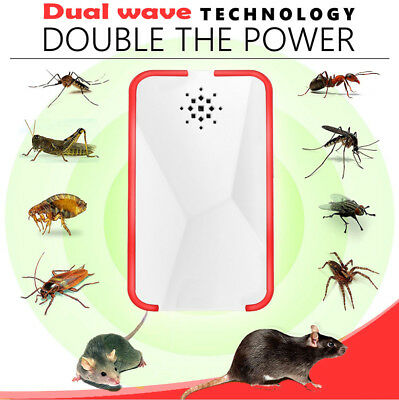 Ultrasonic Pest Repeller Mice Bug Mosquito Fly Cockroach Spider Rat Control 2019