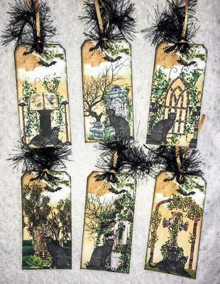 Set of 6 Hang Tags~Halloween Gothic Fantasy~Gift Tags~Scrapbooking~Card/'s~#122R