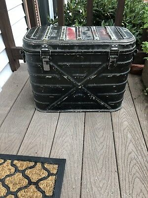 VINTAGE US MILITARY ALUMINUM INSULATED COOLER - Hot Or Cold - 1962