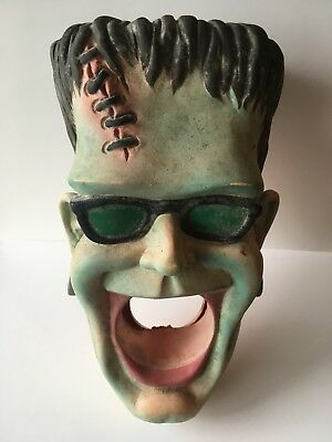 "FRANKENSTEIN RARE RUBBER FACE 1988 Banning Ent. for Shower app 6"" tall"