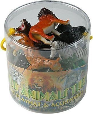 Plastic Jungle Zoo Figure Wild Animals Childrens Christmas Toy Party Stocking