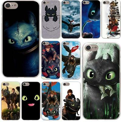 Toothless Train Your Dragon Soft TPU Black Case for iphoneX XS Max XR 8 7 6 plus