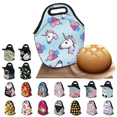 Childrens Kids Lunch Bags Insulated Cool Lunch Bag Picnic School Lunchbox Holder