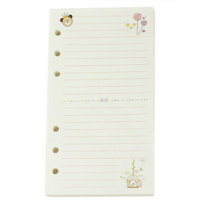 A6 Cute colorful diary refills spiral notebook replace color core loose leaf B8