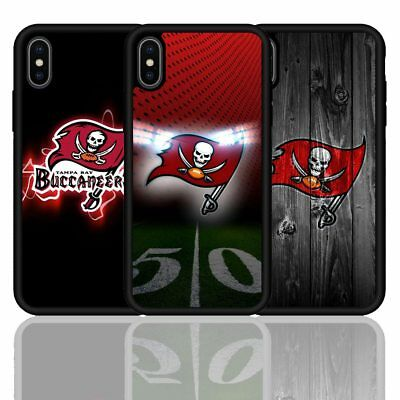 Tampa Bay Buccaneers Rubber Black Case Cover For iPhone 6 7 8 PLUS X XR XS Max