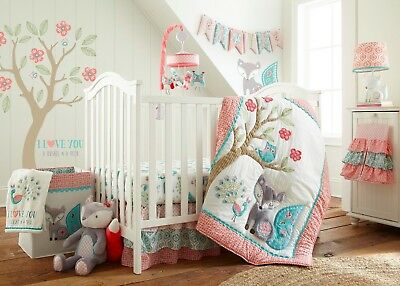 Levtex Baby Fiona 5 Piece Crib Bedding Set Quilt 100 Cotton Ed Sheet