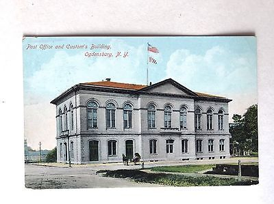 1910 Postcard Post Office And Custom's Building Ogdensburg New York